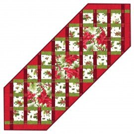 Maywood Studio Christmas Ribbons Table Runner Kit-MASPAP