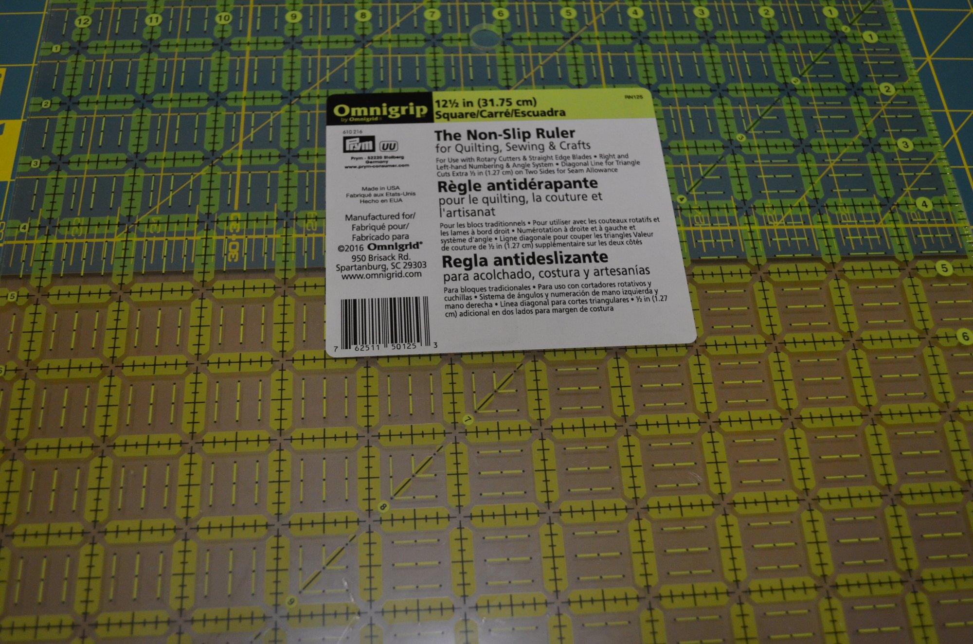 Omnigrid Omnigrip Neon Ruler 12 1/2in x 12 1/2in