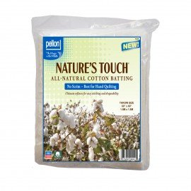 Pellon Natures Touch 100% Natural Cotton Batting PELN-60S Throw-Sized 60in x 60in