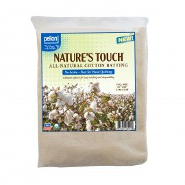 Pellon Nature's Touch 100% Natural Cotton Batting PELN-81 No Scrim 81in x 96in