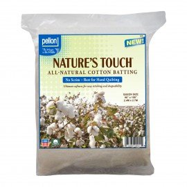 Pellon Natures Touch 100% Natural Cotton Batting PEL-96S Queen-Sized 90in x 108in