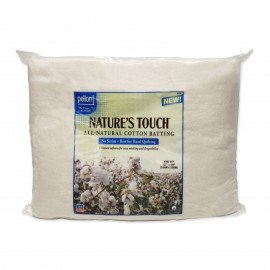 Pellon Nature's Touch 100% Natural Cotton Batting No Scrim PELNT-120S 120in x 120in