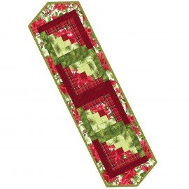 Maywood Studio POD Log Cabin Table Runner   POD-MAS01-PAP 13X45