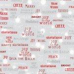 Robert Kaufman Winter's Grandeur 6 SRKM17331277 Red & Silver words on Grey