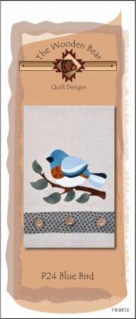 Blue Bird Tea Towel PATTERNlets by the Wooden Bear TWBP24