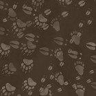 Clothworks Open Sky CLTY2455-16 Dark Brown Animal Prints