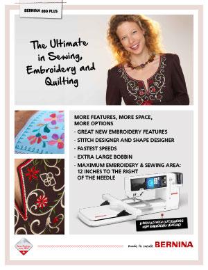 Bernina 880 Plus Sewing and Embroidery Machine