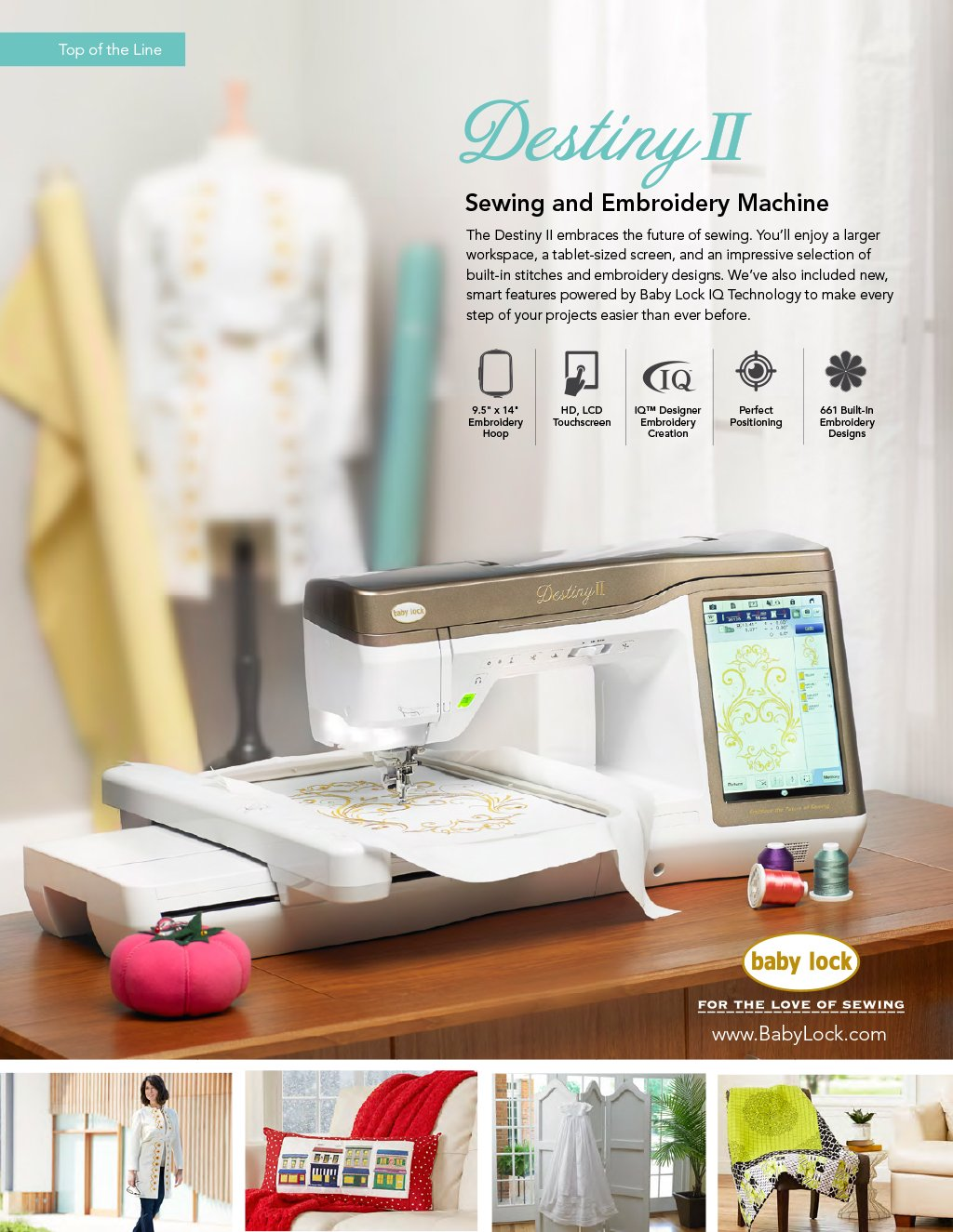 Babylock Destiny Ii Sewing And Embroidery Machine