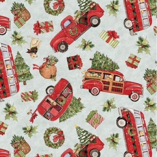 Sale 100/% Cotton Fabric Nutex Christmas Decoration Stripes Holly Bauble Festive