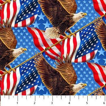 Liberty Ride-Blue-Eagle/flags