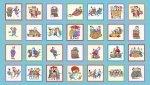 Shop Hop-Sky Blue 5in Blocks-Panel