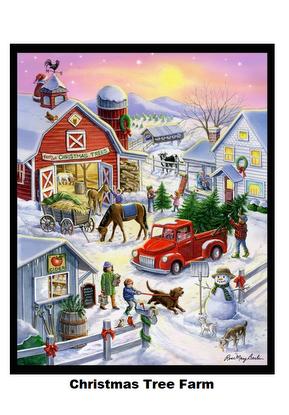 Christmas Tree Farm-Digital Panel-36x42