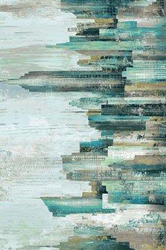 City Scene-Digital Panel-Teal