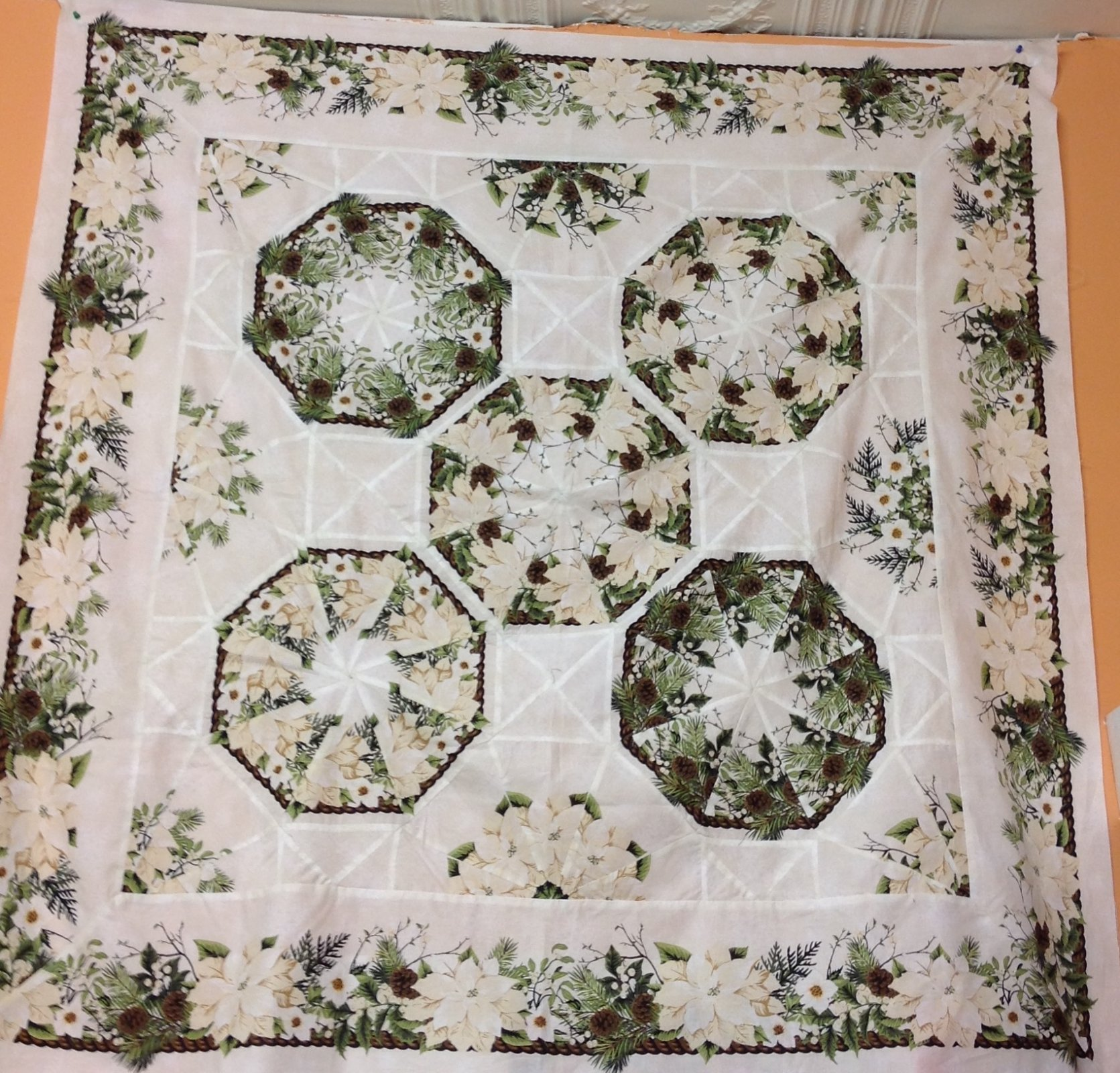One-Fabric Kaleidoscope-Quilt Top