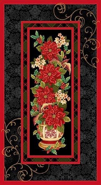 Christmas Splendor-Black -Panel