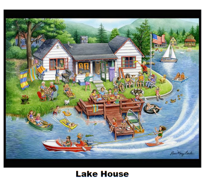 Lake House-Digital Panel 36x 42