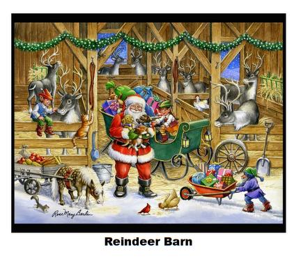 Reindeer Barn-Digital Panel-36