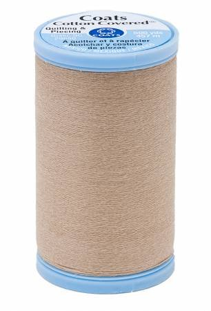 Cotton Covered Quilting 500yd, Buff