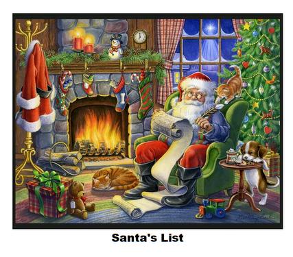Santa's List-Digital Panel-36