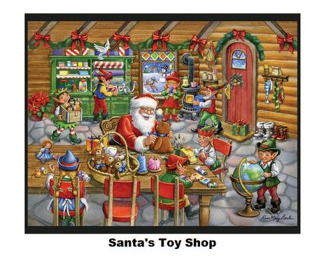 Santa's Toy Shop-Digital Panel-36