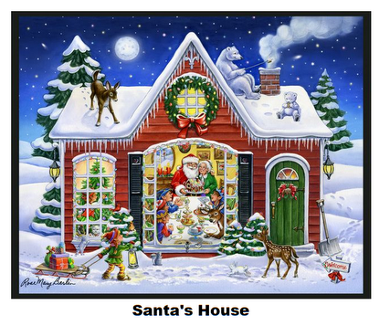 Santa's House-Digital Panel-36