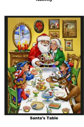 Santa's Table-Digital Panel-36