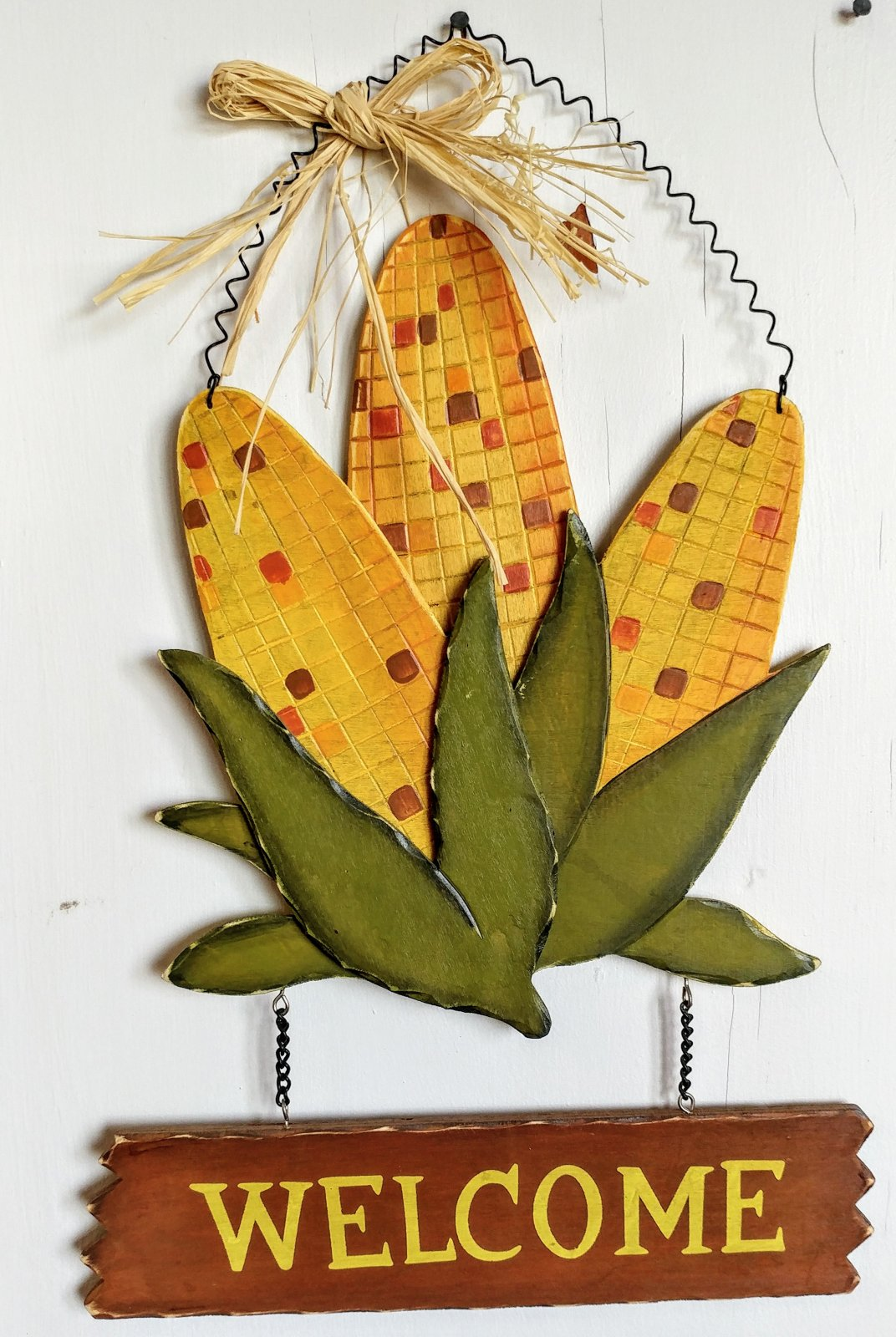 YS - Welcome Indian Corn Decor