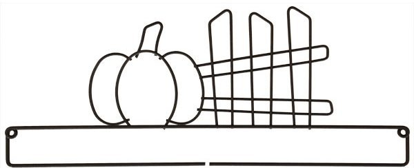 12 Pumpkin and Fence Hanger