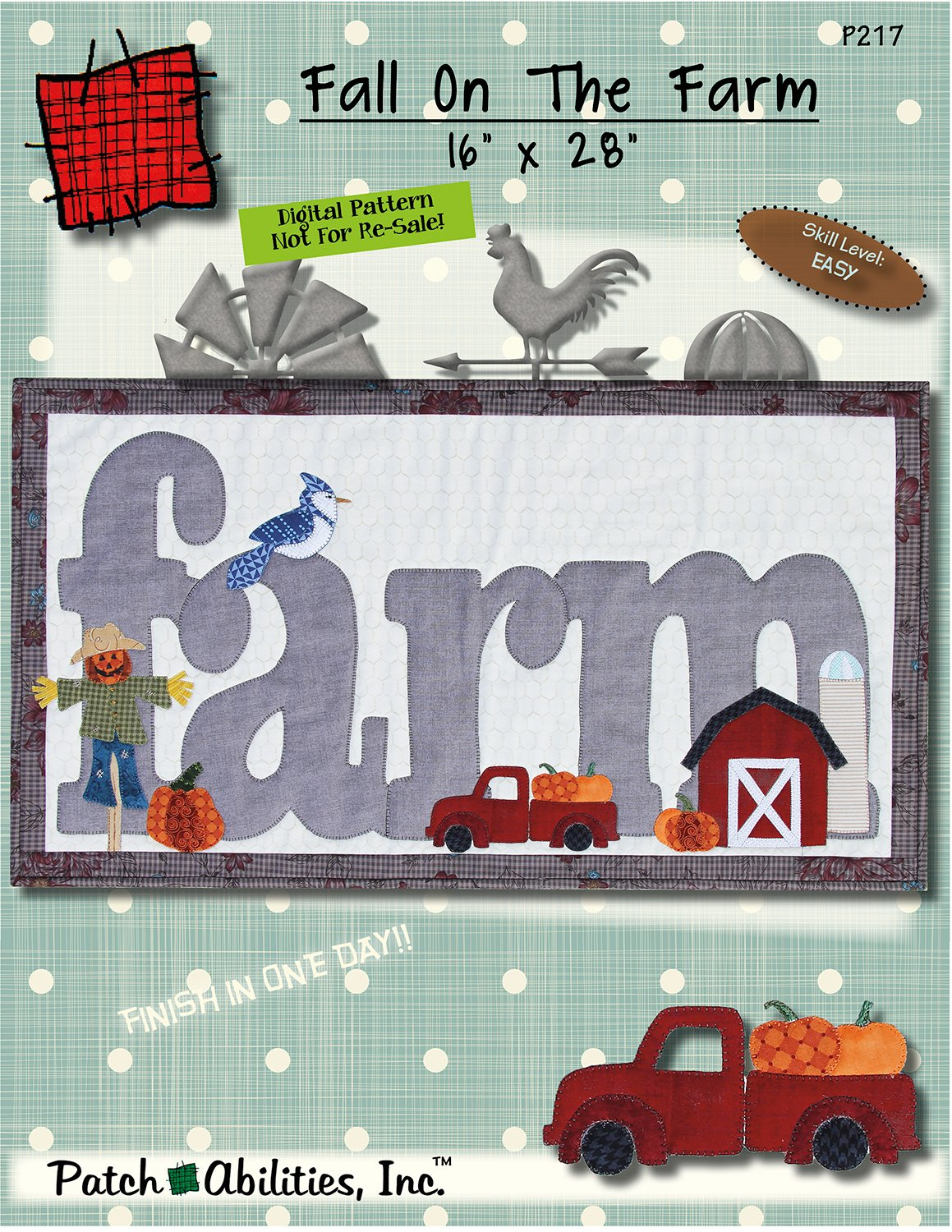 P217 Fall On The Farm -  DIGITAL DOWNLOAD PATTERN
