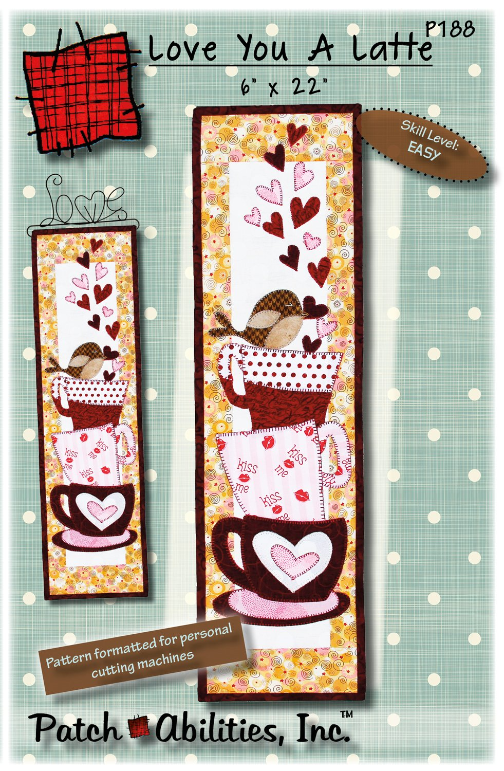 P188 Love you A Latte - DIGITAL DOWNLOAD PATTERN