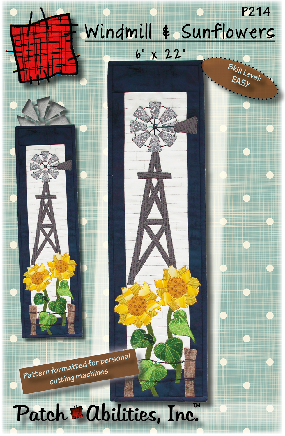 P214 Windmill and Sunflowers
