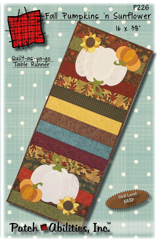 P226 Fall Pumpkins 'n Sunflower table runner