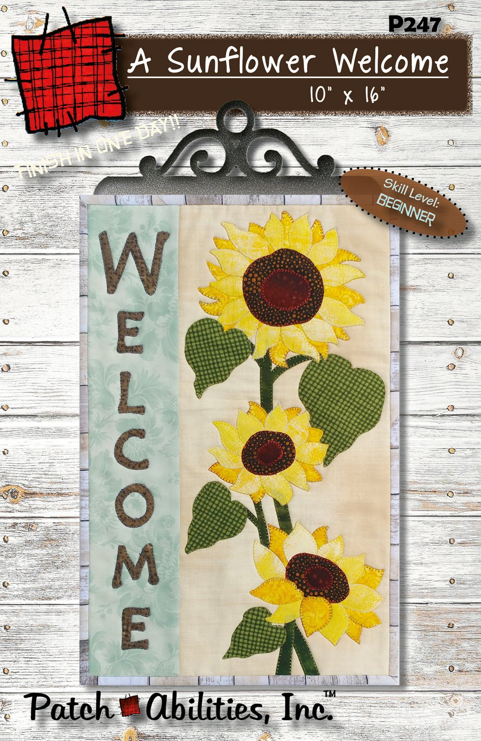 P247 Welcome Sunflower pattern