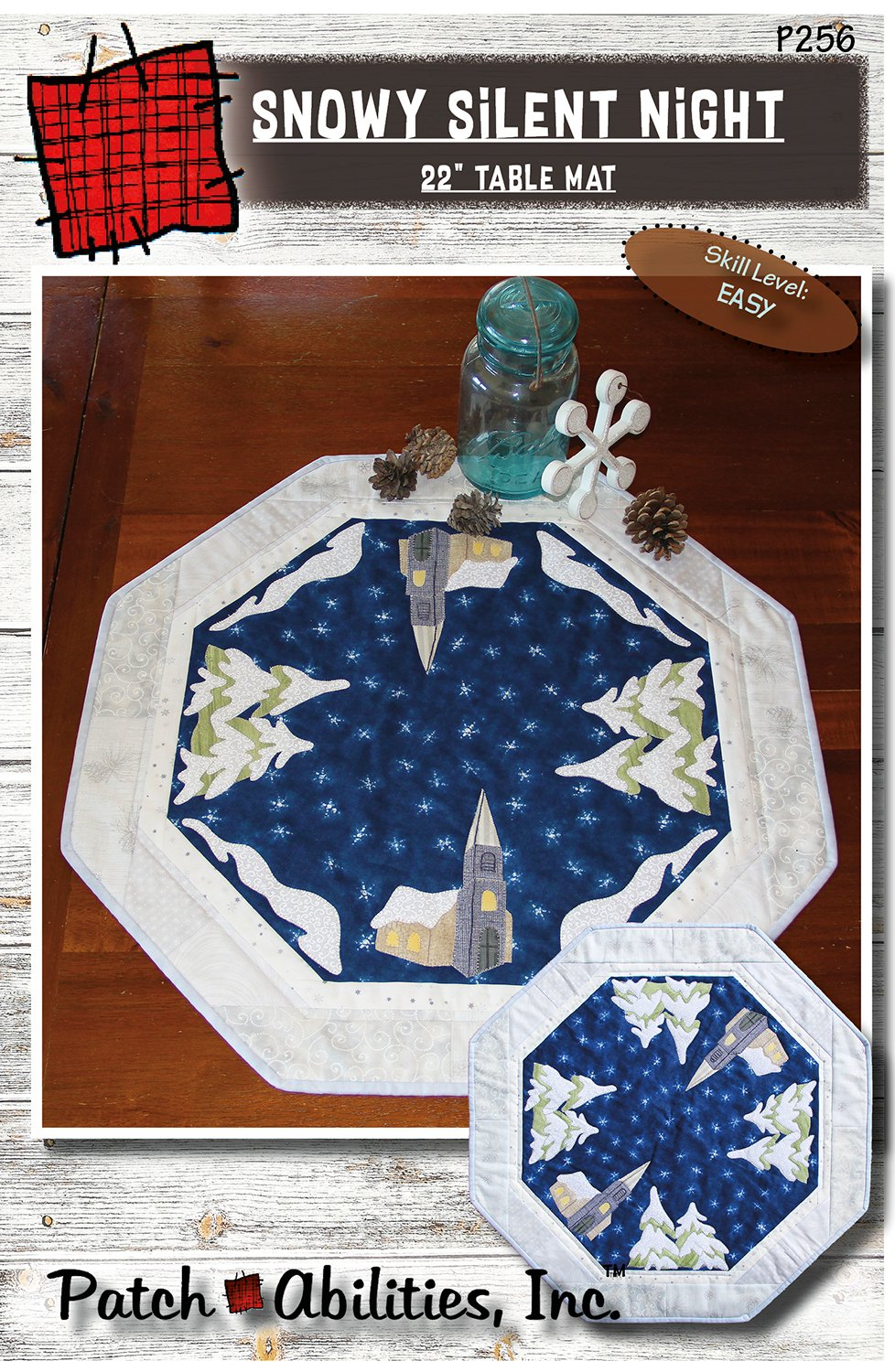 P256 Snowy Silent Night Table Mat