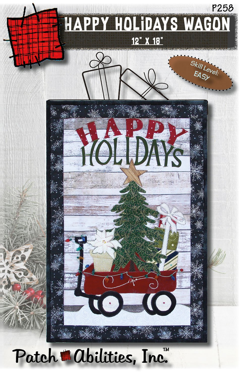 P258 Happy Holidays Wagon DIGITAL DOWNLOAD PATTERN