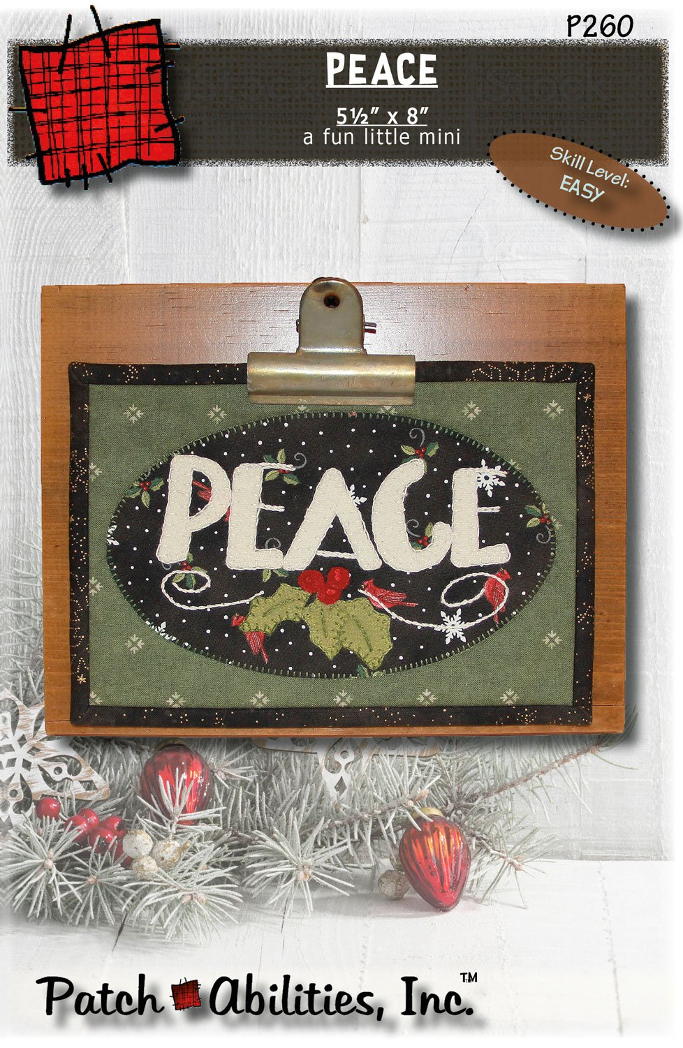 P260 Peace, a fun little mini DIGITAL DOWNLOAD PATTERN
