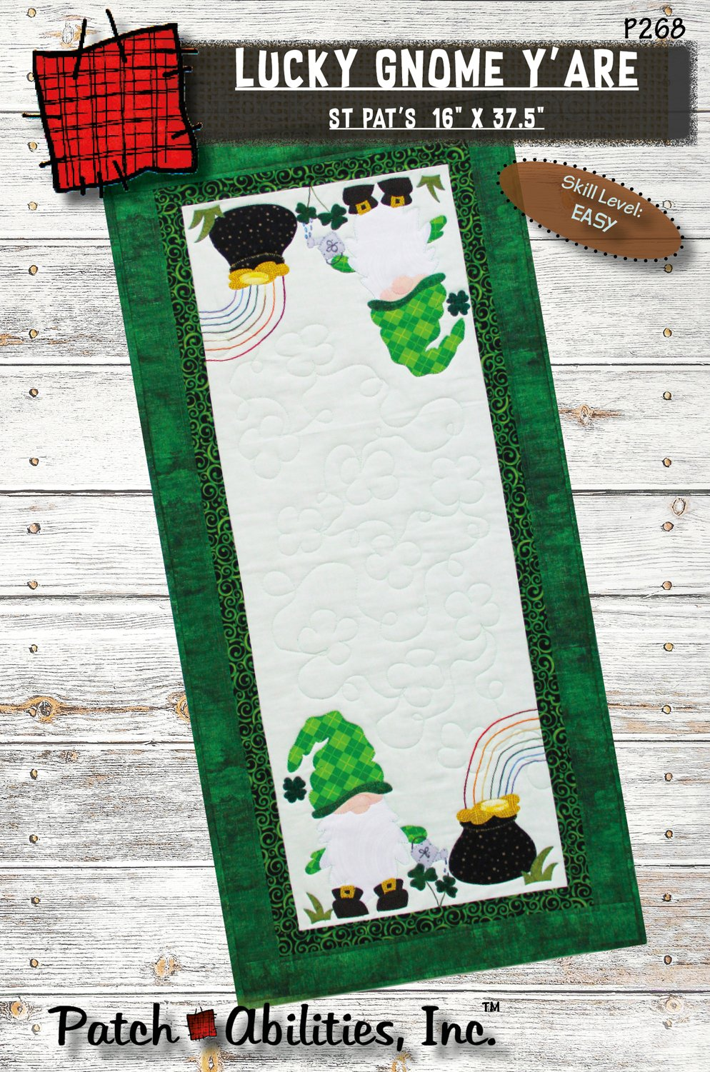 P268 Lucky Gnome Y'are Table Runner