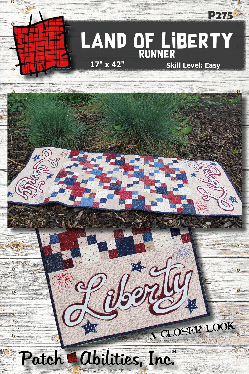 P275 Land of Liberty Table Runner