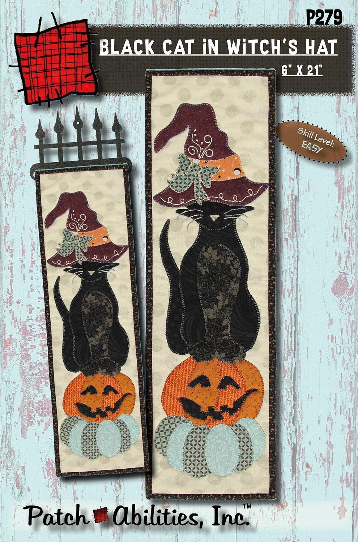 P279 Black Cat in Witch's Hat