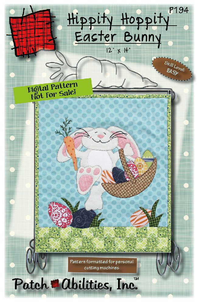 P194 - Hippity Hoppity Easter Bunny DIGITAL DOWNLOAD PATTERN