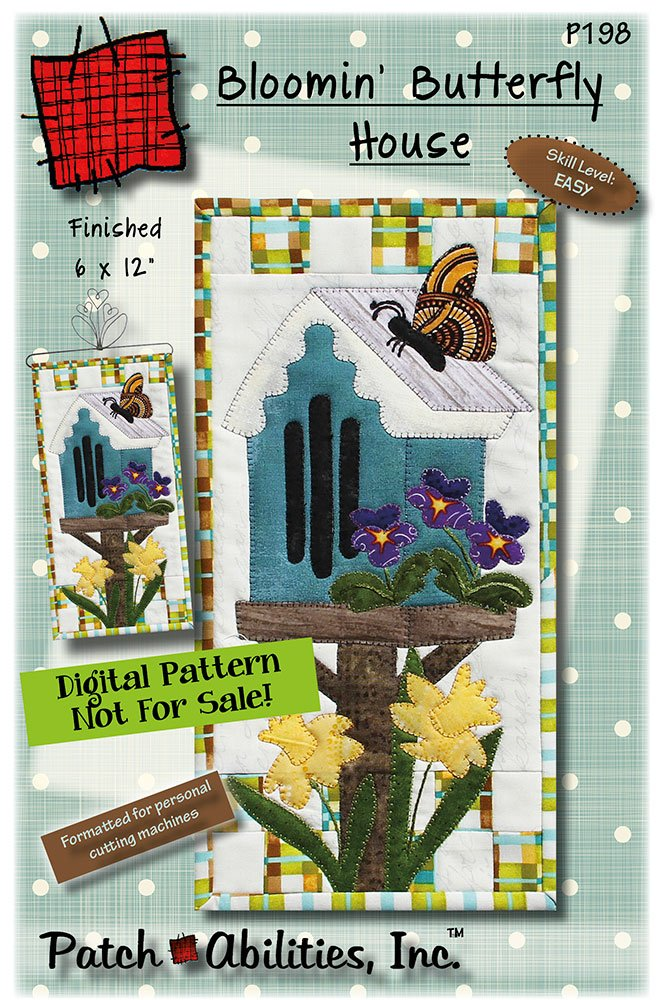 P198 - Bloomin' Butterfly DIGITAL DOWNLOAD PATTERN