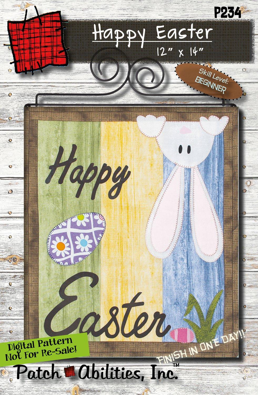 P234 Happy Easter- DIGITAL DOWNLOAD PATTERN