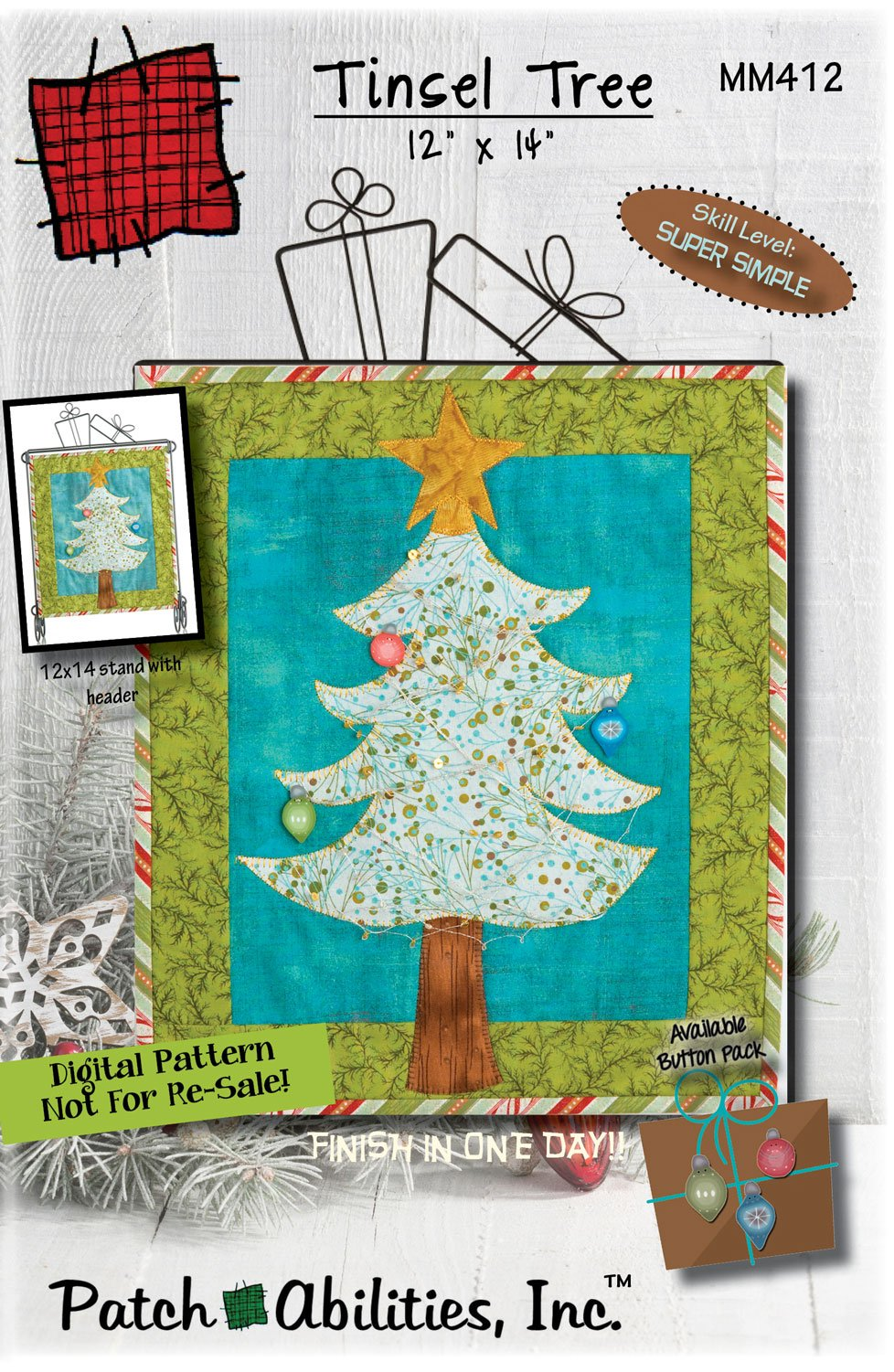 MM412 Tinsel Tree DIGITAL DOWNLOAD PATTERN