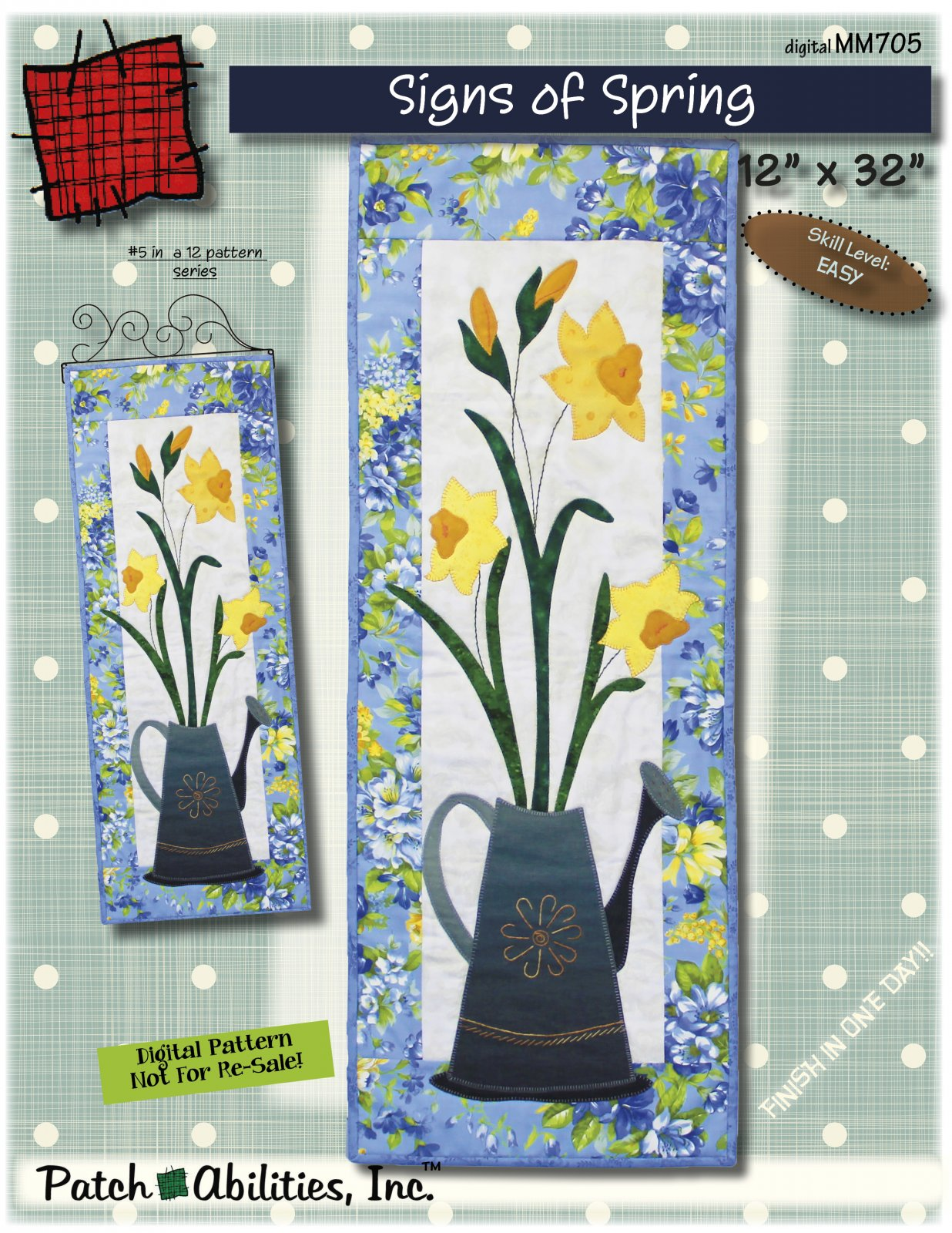 MM705 Signs of Spring DIGITAL DOWNLOAD pattern