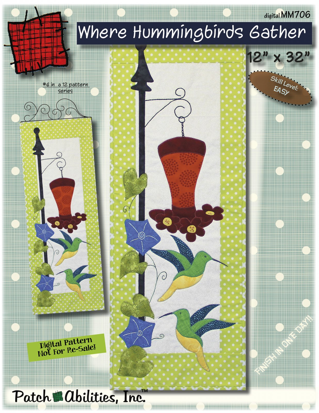 MM706 Where Hummingbirds Gather DIGITAL DOWNLOAD pattern