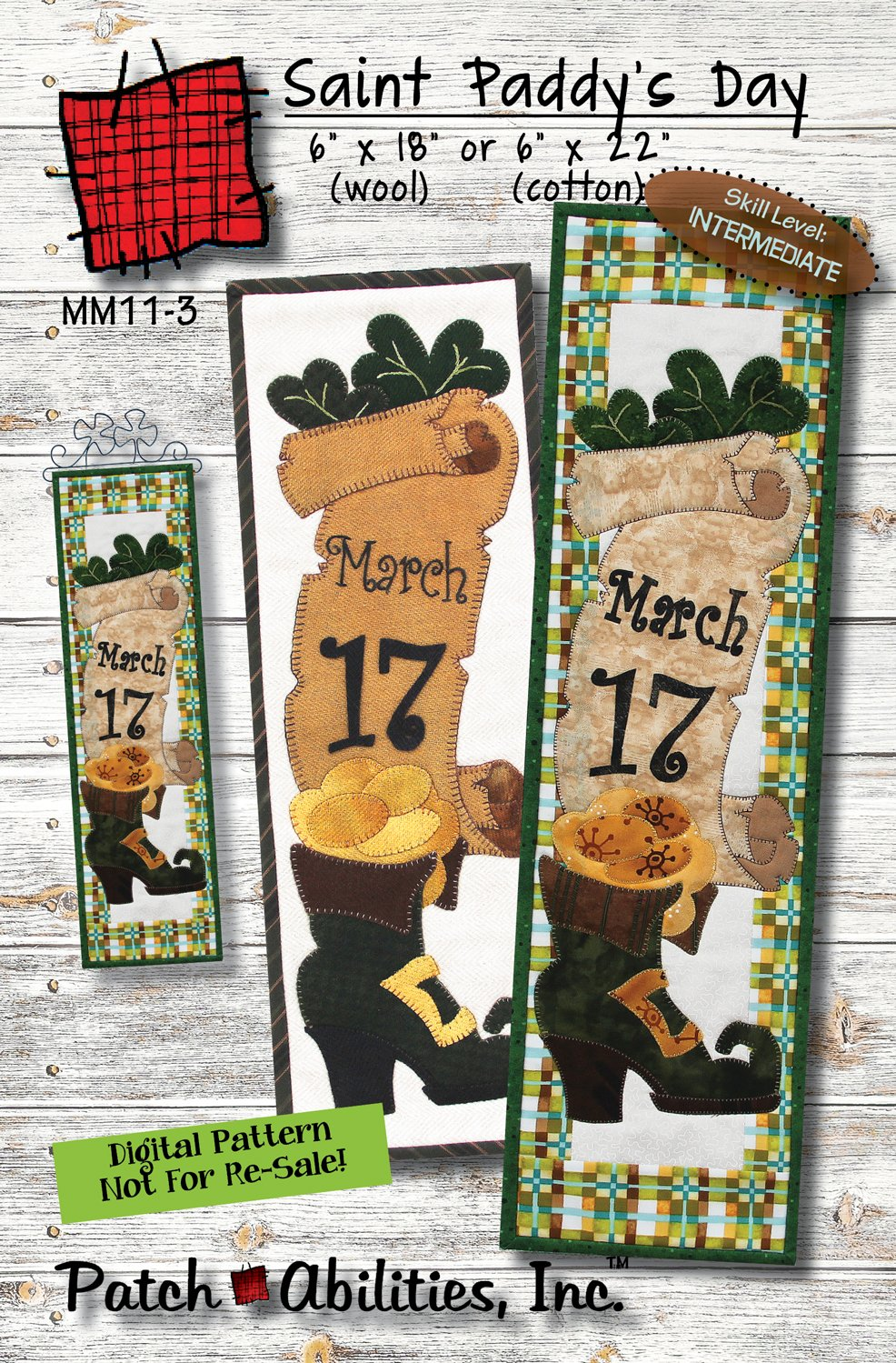 MM11-3 St. Paddy's Day DIGITAL DOWNLOAD PATTERN