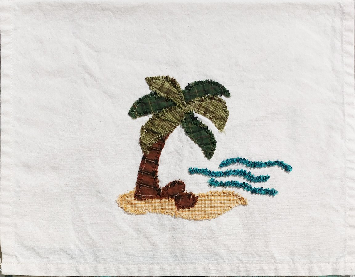 Palm Tree Towel- Finished Model