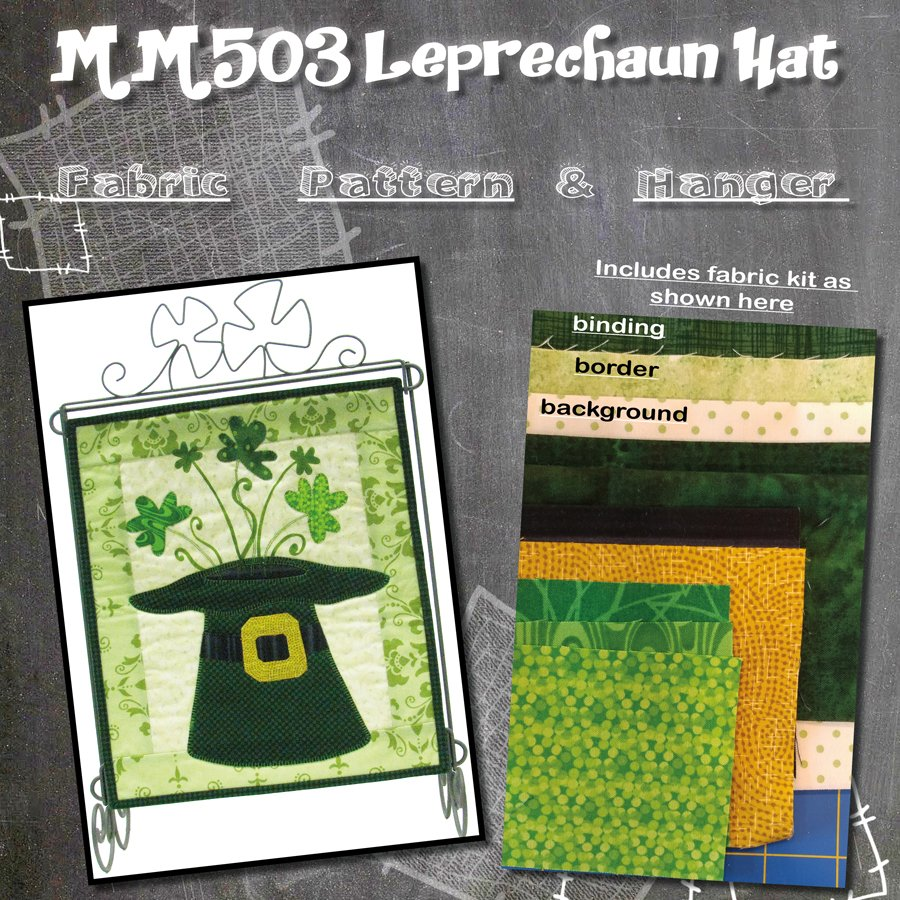 MM503 Leprechaun Hat -Pattern with Fabric Kit