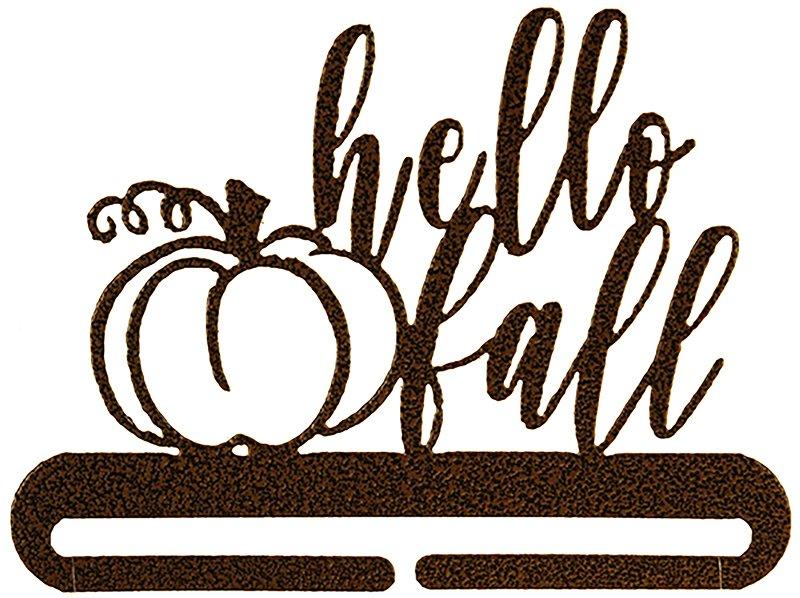 6 inch Hello Fall Split Bottom Copper Vein Hanger