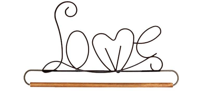 6 inch LOVE hanger